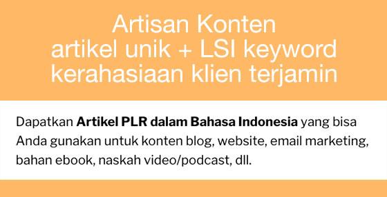 artisan konten SEO dengan LSI keyword